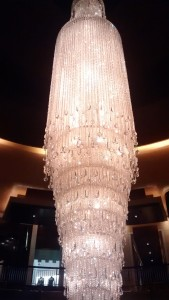 This chandelier was sparkly