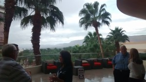 It was gray and rainy... wait, it's not Portland! you can tell by the palm trees. But we did have flash flood warnings on Saturday night!