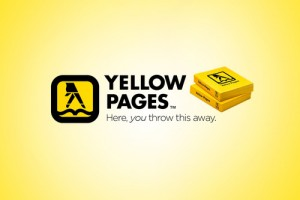 yellow pages here you throw it away