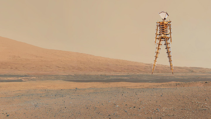 On the move on Mars with the Man