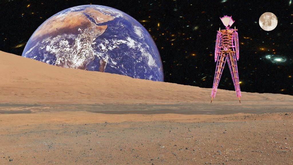 Burning Man on Mars