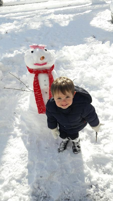Alicia - This was ours, it's my son posing but our Au Pair did all the work. She was really happy to make her first one (although she's over the snow now.) There's one on 37th that had some kind of jewels that was impressive.