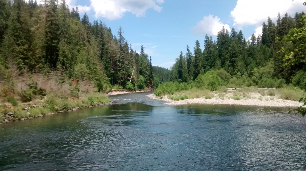 Callowash and Clackamas Rivers in Oregon