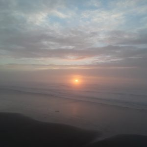 Sunset in Newport Oregon