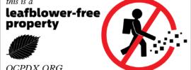 Leafblower-free property